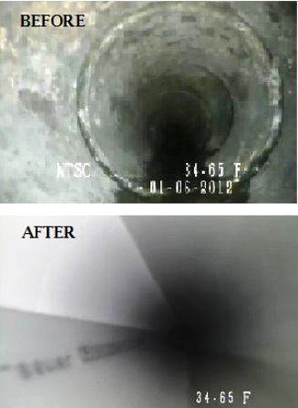 Before & After of Lined Pipe